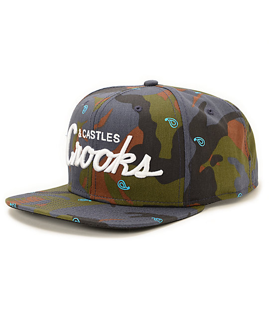 Crooks and Castles Team Crooks Camo Snapback Hat