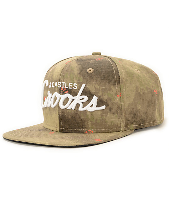Crooks and Castles Team Desert Camo Snapback Hat
