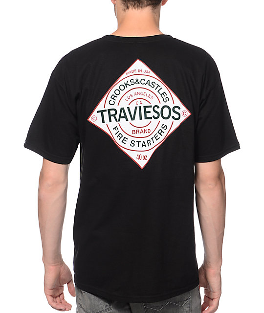 Crooks and Castles Traviesos Black T-Shirt
