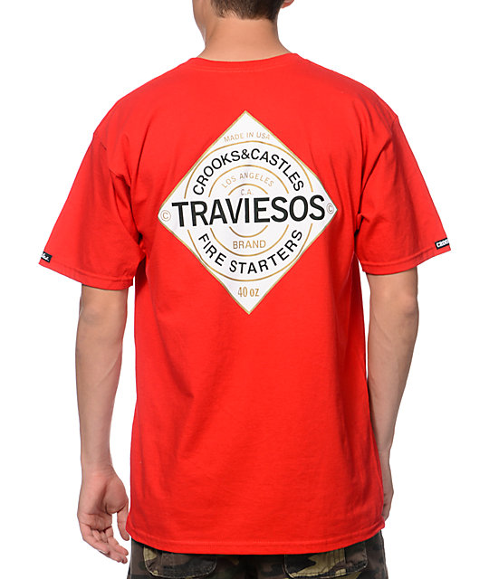 Crooks and Castles Traviesos Red T-Shirt