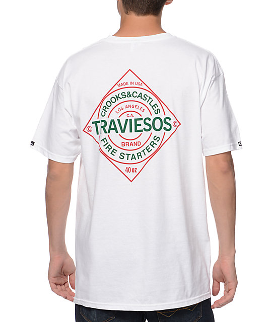 Crooks and Castles Traviesos White T-Shirt