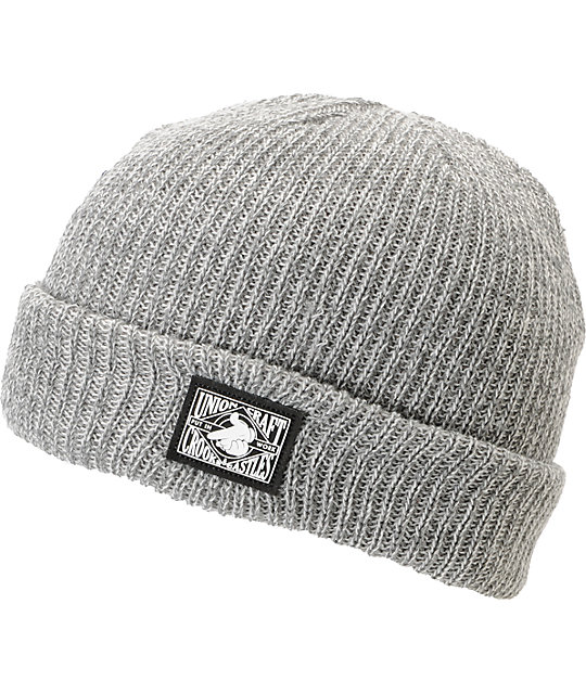 Crooks and Castles Union Craft Grey Cuff Beanie