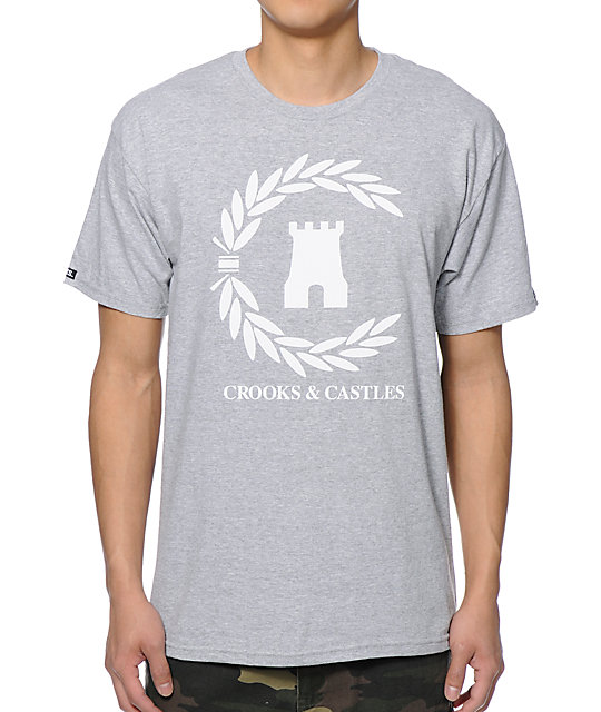 Crooks and Castles Victory Grey T-Shirt