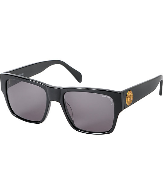 Crooks and Castles Violento Black & Gold Sunglasses