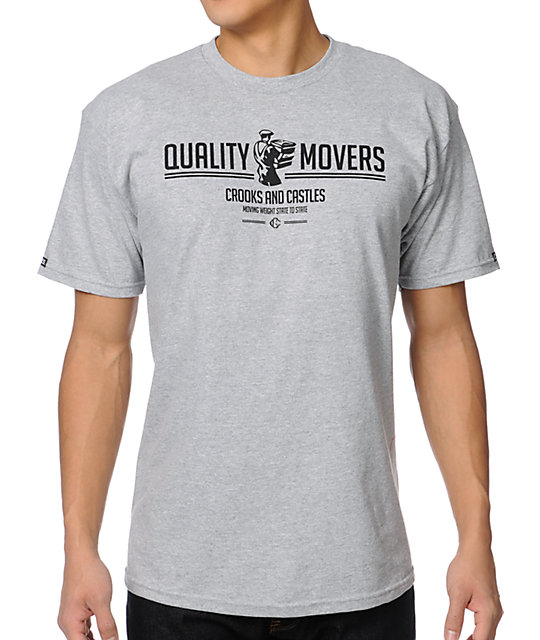 Crooks and Castles Weight Movers Grey T-Shirt