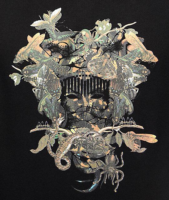 crooks and castles wild medusa black hoodie zumiez