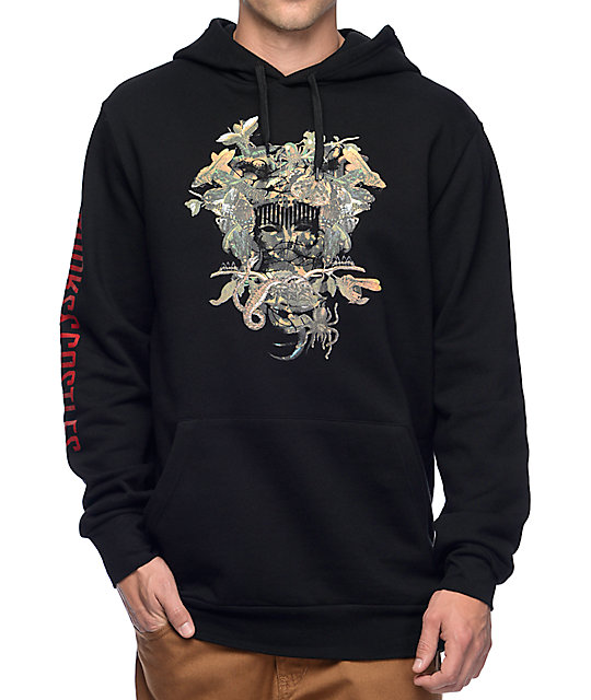 crooks and castles wild medusa black hoodie at zumiez pdp