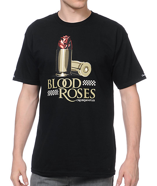 Crooks and Castles x SSUR Blood Roses Black T-Shirt