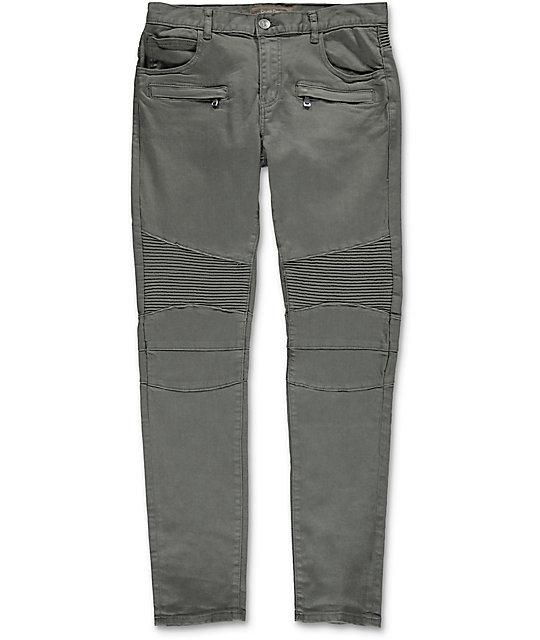 Denim Jordan Moto Grey Twill Pants