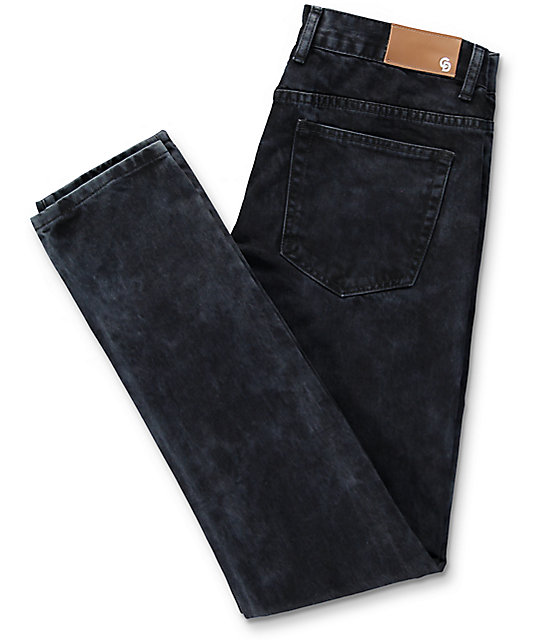 Crysp Denim Sanders Black Ripped Jeans