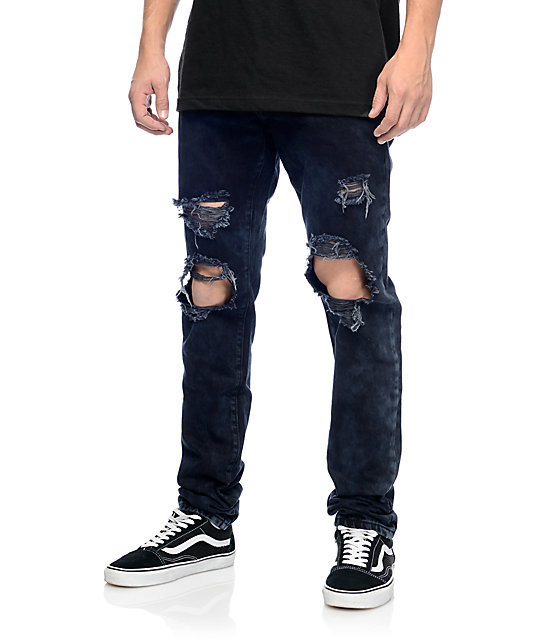 Denim Sanders Black Ripped Jeans