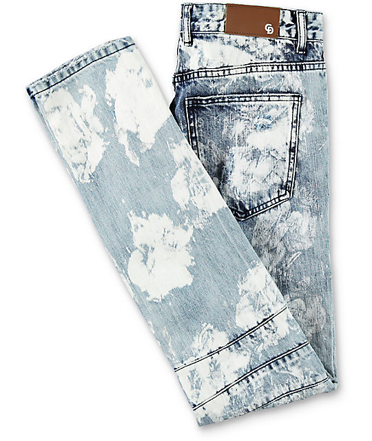 Crysp Denim Skywalker Biker Distressed Jeans