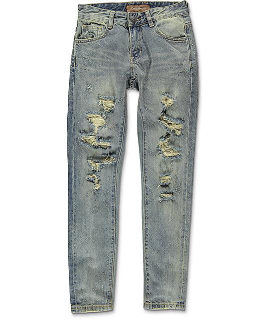 Denim White & Blue Boys Denim Jeans