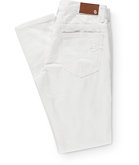 Crysp Ewing White Fade Jeans
