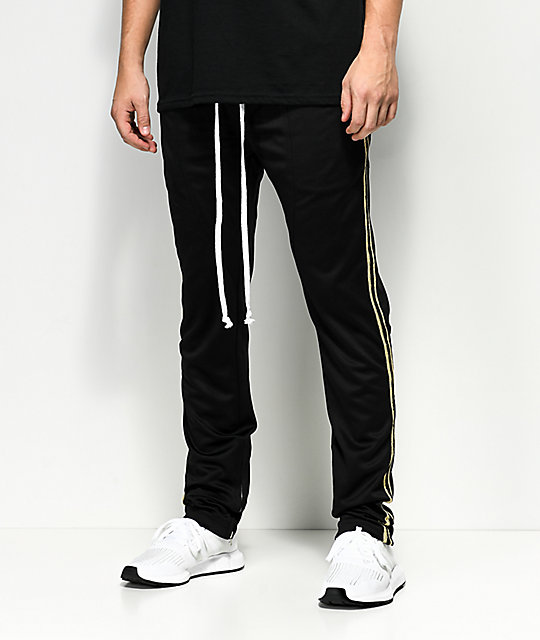 Crysp FB Black & Gold Track Pants