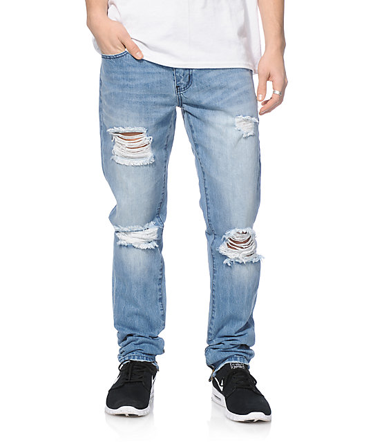 Griffey Ripped Slim Fit Jeans