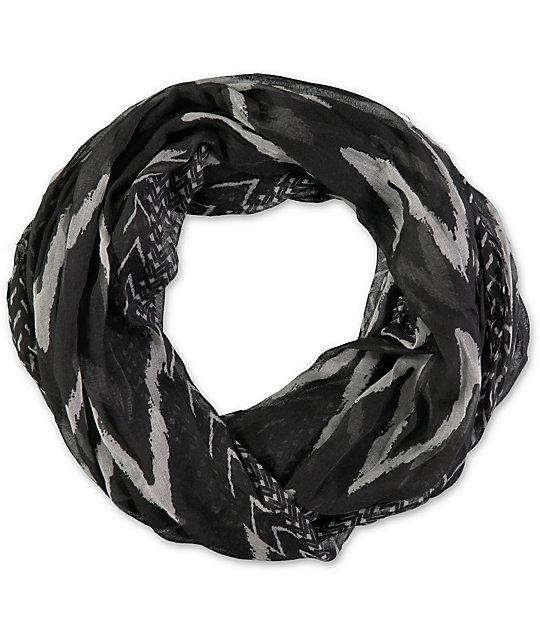 D&Y Black Chevron Infinity Scarf