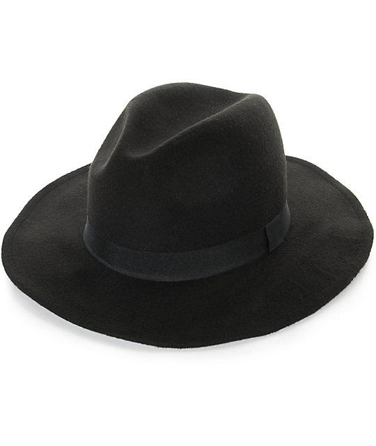 D&Y Black Felt Panama Hat