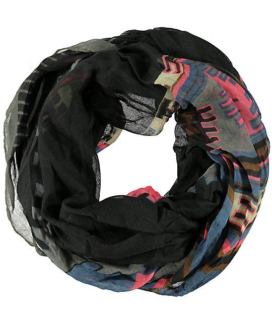 D&Y Black Tribal Print Infinity Scarf