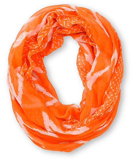 D&Y Chevron Stripe Orange Infinity Scarf