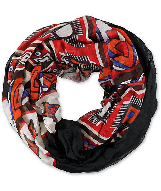 D&Y Geo Tribal Black Infinity Scarf