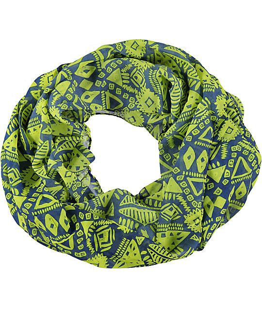 D&Y Lime Geo Tribal Print Infinity Scarf