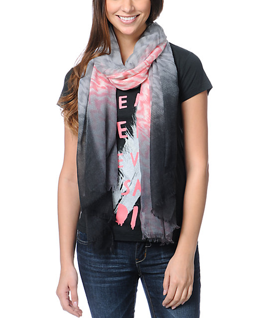 D&Y Tribal Print Grey Scarf