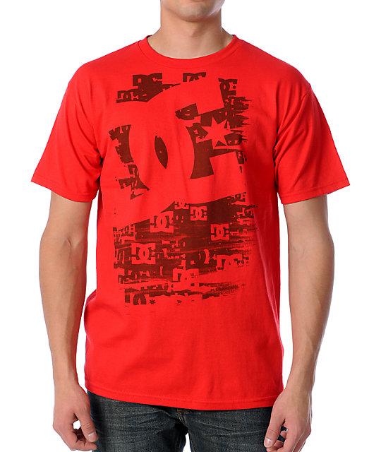 DC A Few Logos Red T-Shirt