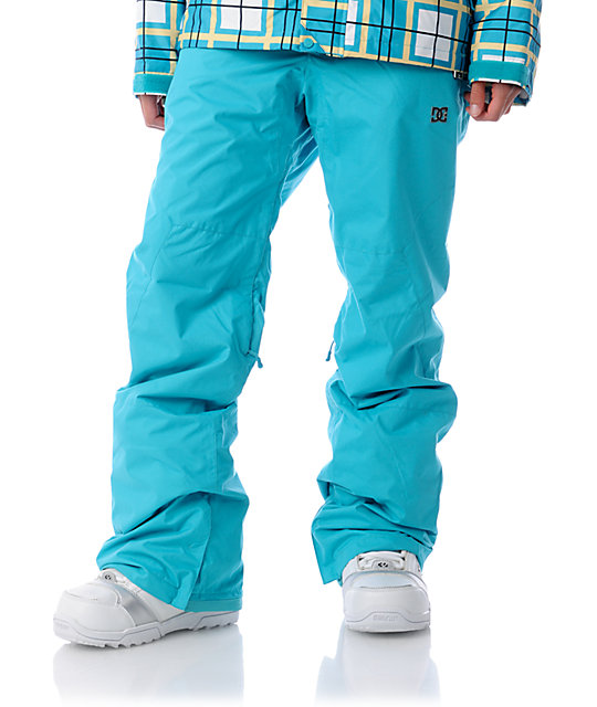DC Ace Turquoise Snowboard Pants