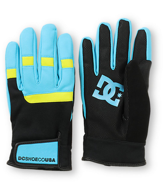 DC Antuco Black & Teal Park Gloves