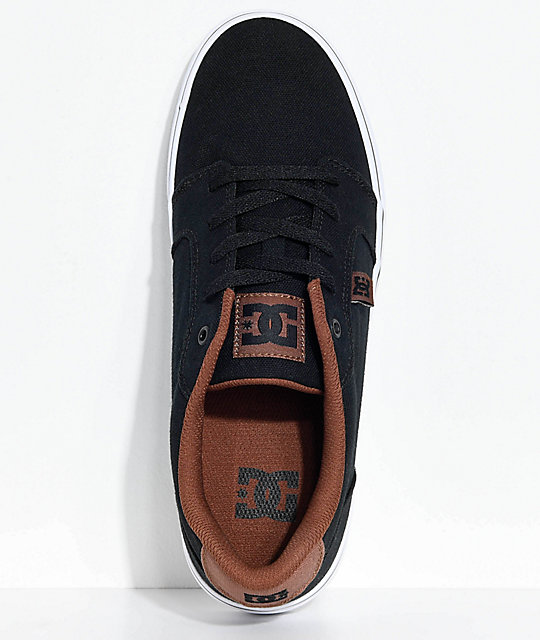 DC Anvil TX Black, Brown & White Skate Shoes