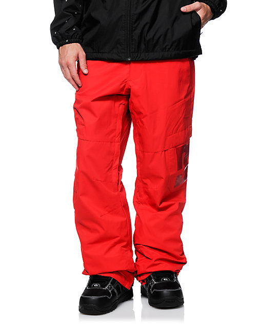 DC Banshee Chinese Red 10K Snowboard Pants