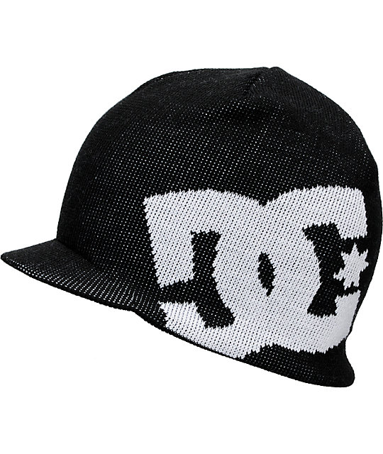DC Big Star Black & White Visor Beanie