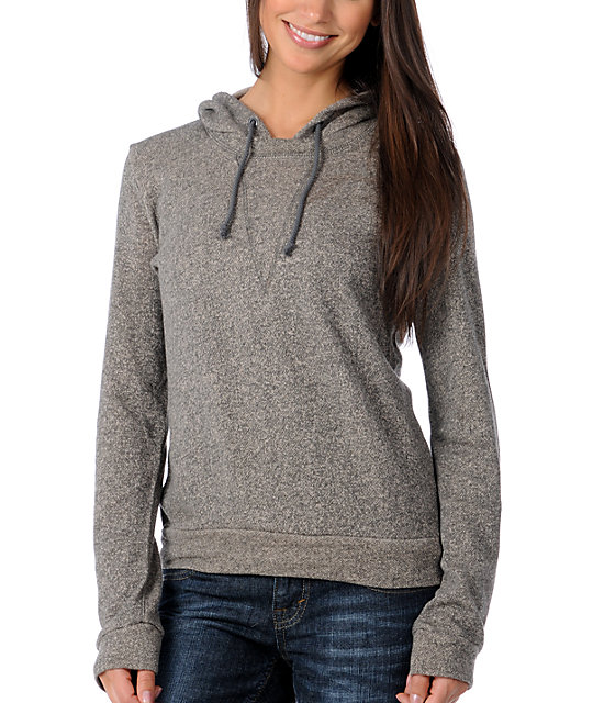 DC Bobbed Charcoal Pullover Hoodie