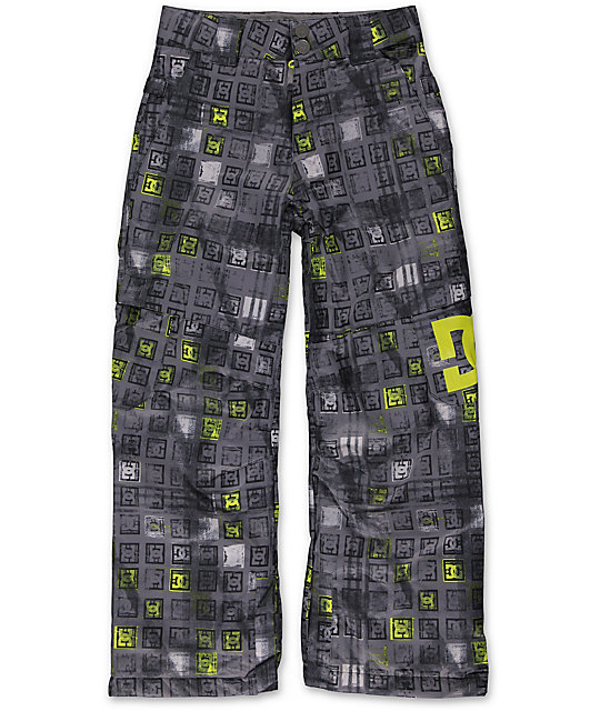 DC Boys Banshee Black Monogram 10K Snowboard Pants 2014