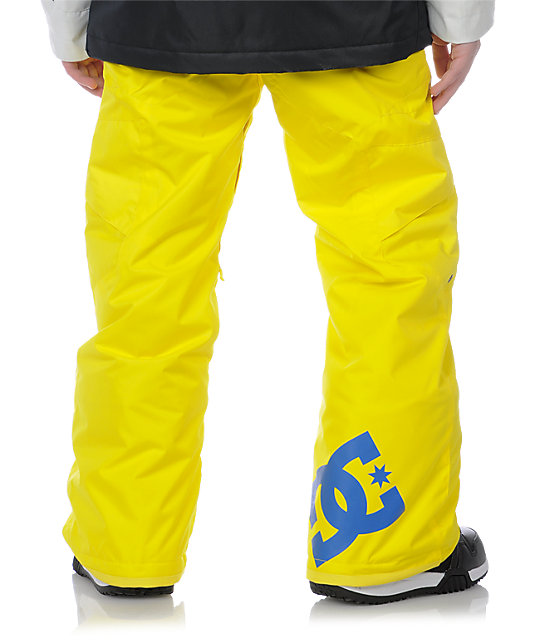 DC Boys Banshee Yellow Snowboard Pants
