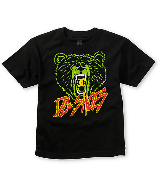 DC Boys Bear Star Black T-Shirt