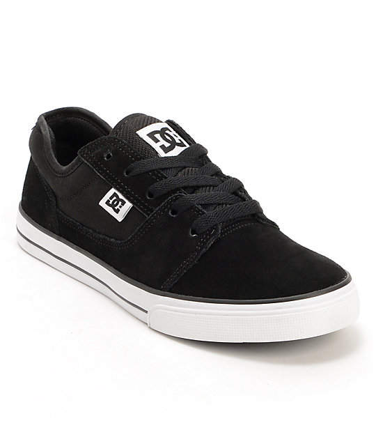 DC Boys Bristol Black & White Skate Shoes