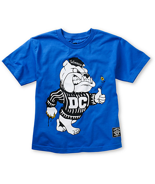 DC Boys Bulldog Blue T-Shirt