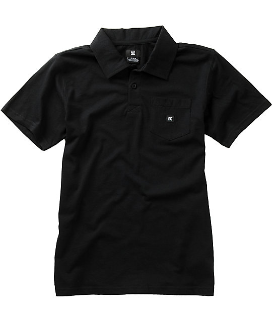 DC Boys Chomper Black Polo Shirt