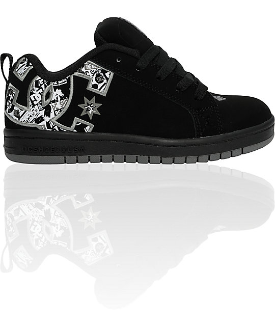 DC Boys Court Graffik Black & Carbon Shoes