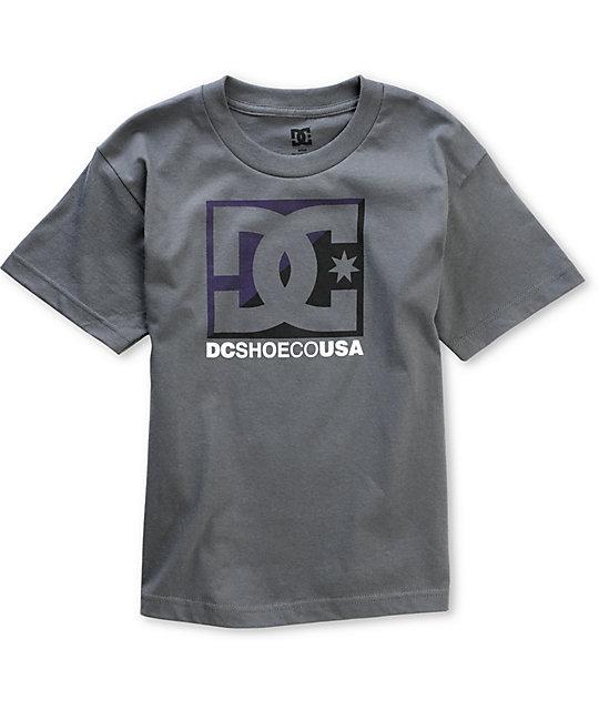 DC Boys Cross Star Charcoal T-Shirt