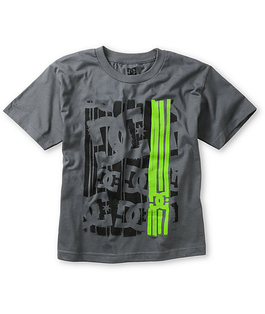 DC Boys Curtains Charcoal T-Shirt