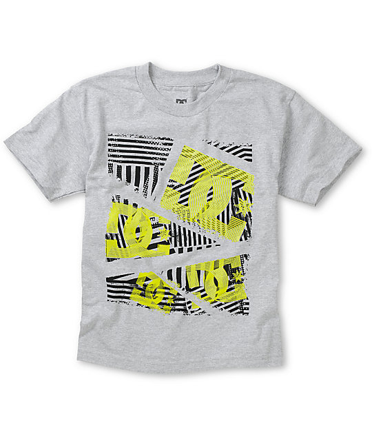 DC Boys Dropper Grey T-Shirt
