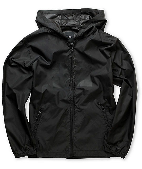 Boys Glacier Black Windbreaker Jacket