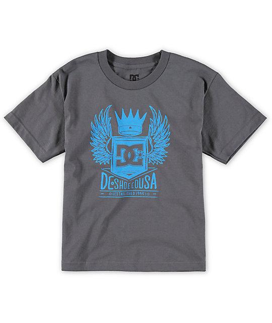 DC Boys Jett Charcoal T-Shirt