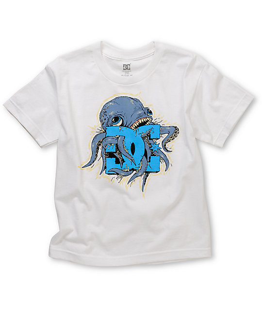 DC Boys Okatpi UV Ink White T-Shirt