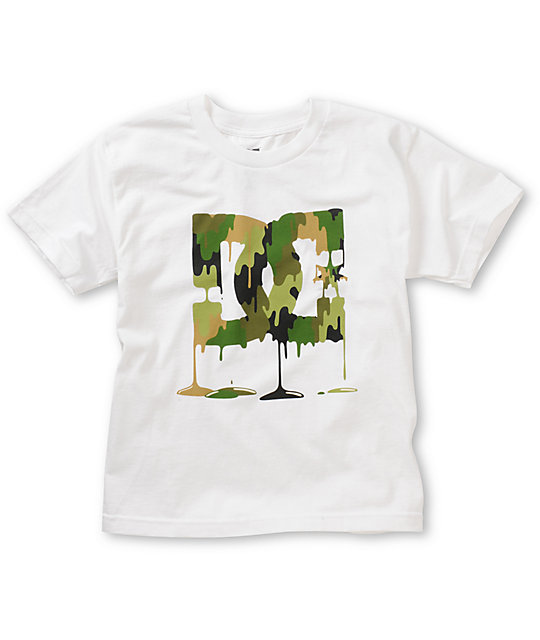 DC Boys Painted Rock White T-Shirt