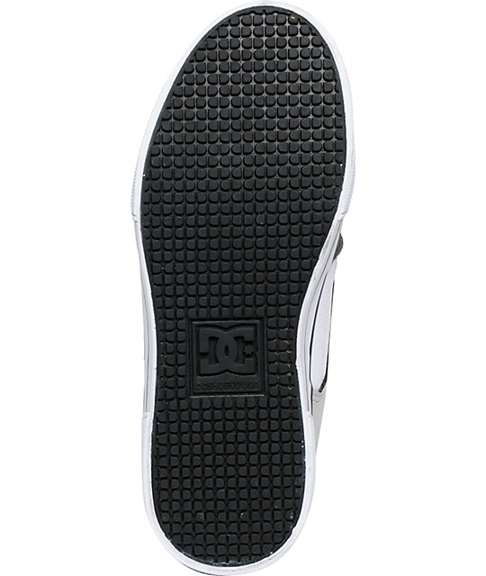 DC Boys Pure Black, Armor & White Skate Shoes