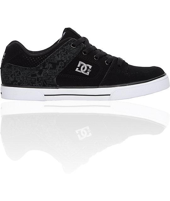 DC Boys Pure Black Battleship Shoes